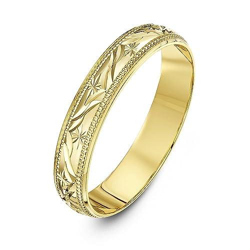 114964767e8c Theia Anillo de Bodas de Oro Amarillo o Oro Blanco