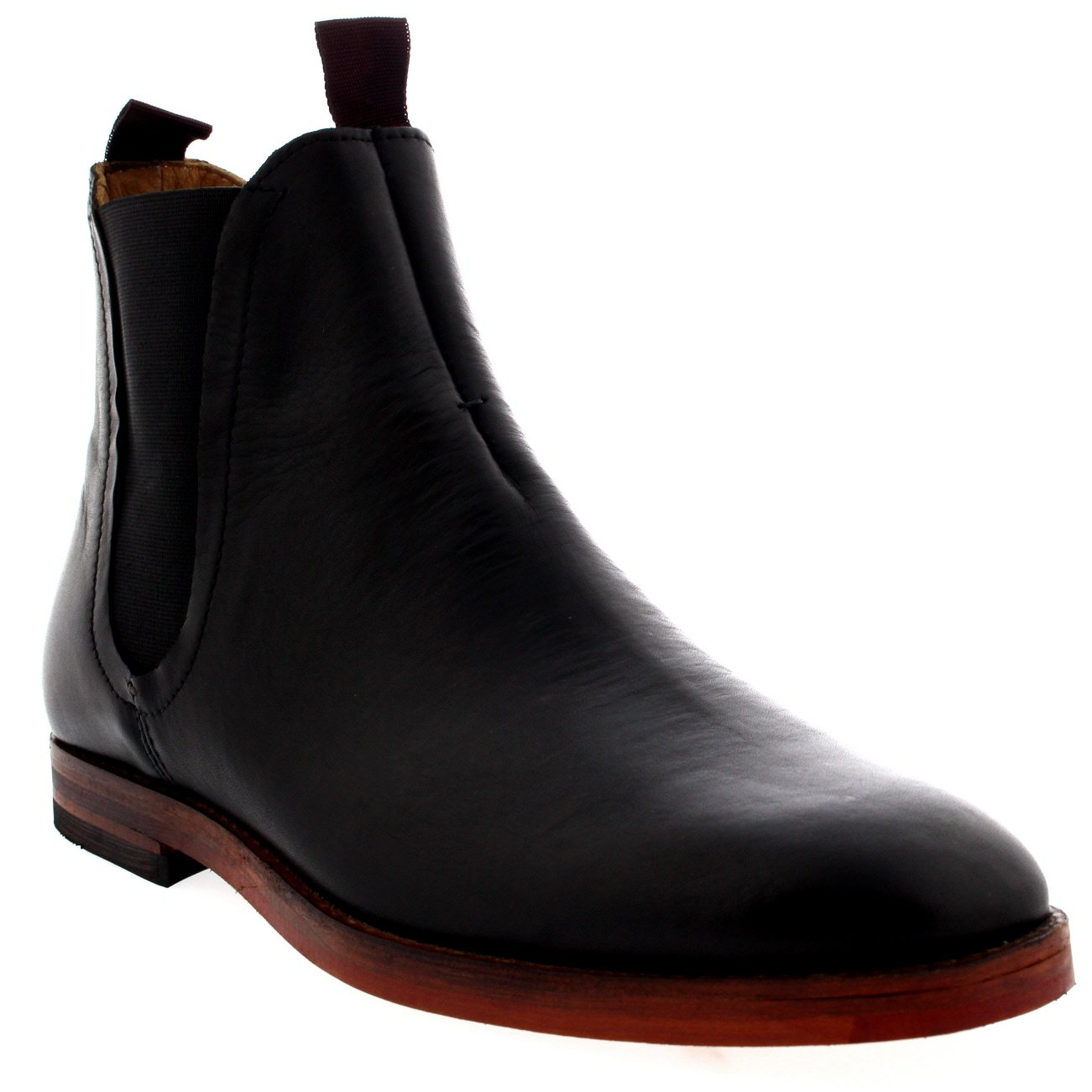 H by Hudson Men's Tamper Chelsea Boot, Black, 43 EU/10 M US