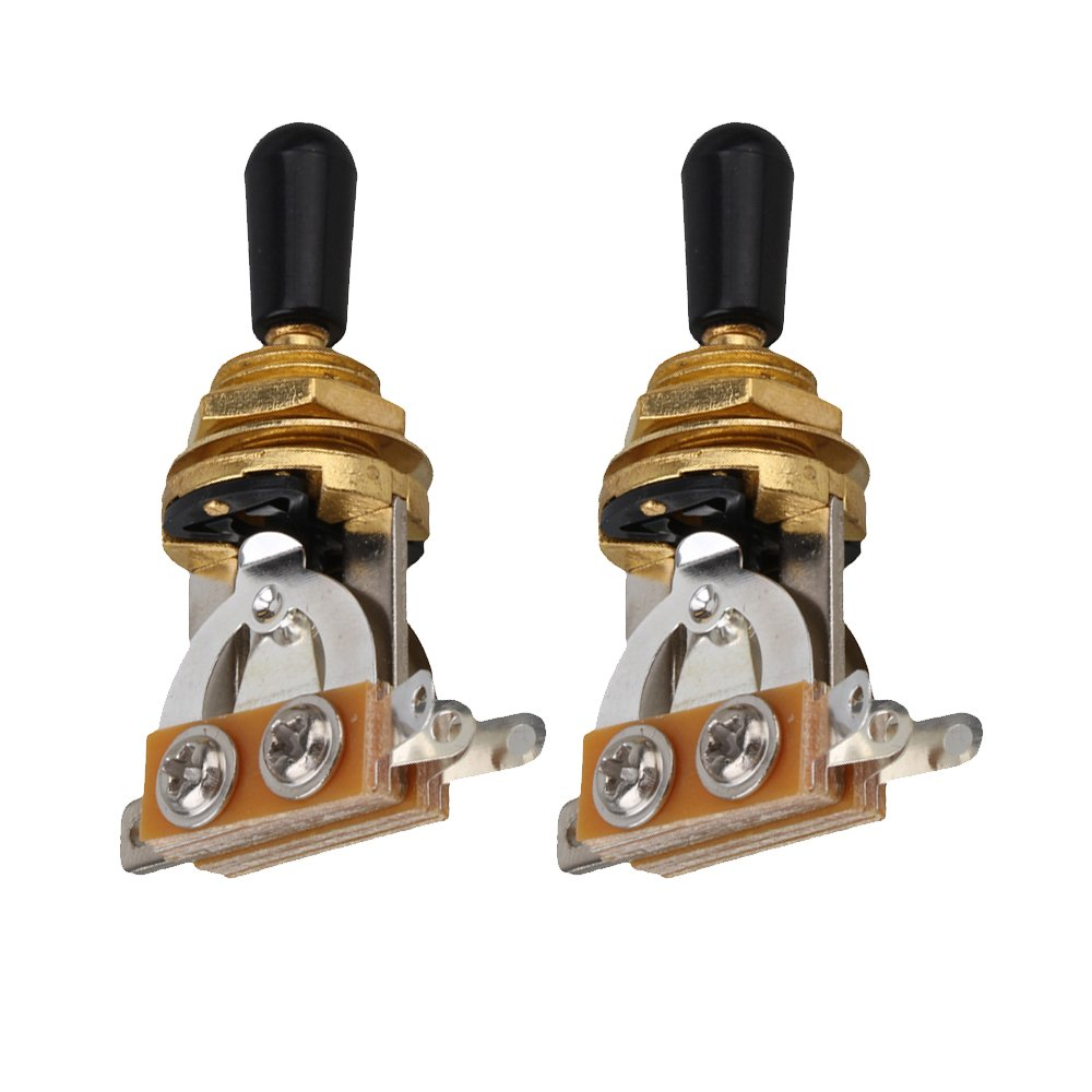 Mxfans 5pcs Electric Guitar Mini Toggle Switch 3 Way With Black Tip Gold Blhlltd Blmn201806043864