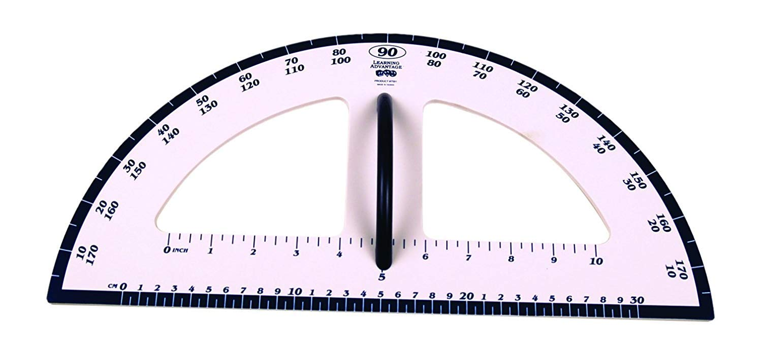 Dry Erase Magnetic Protractor Whiteboard Measurement Tool