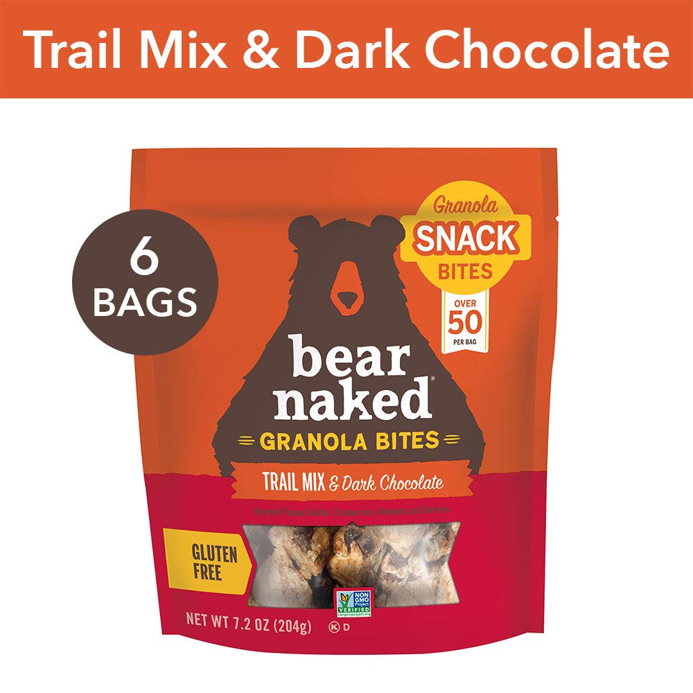 Bear Naked Trail Mix & Dark Chocolate Granola Bites - Gluten Free | Non-GMO | Kosher | Vegan - 7.2 Oz (6Count) by Bear Naked (Image #1)