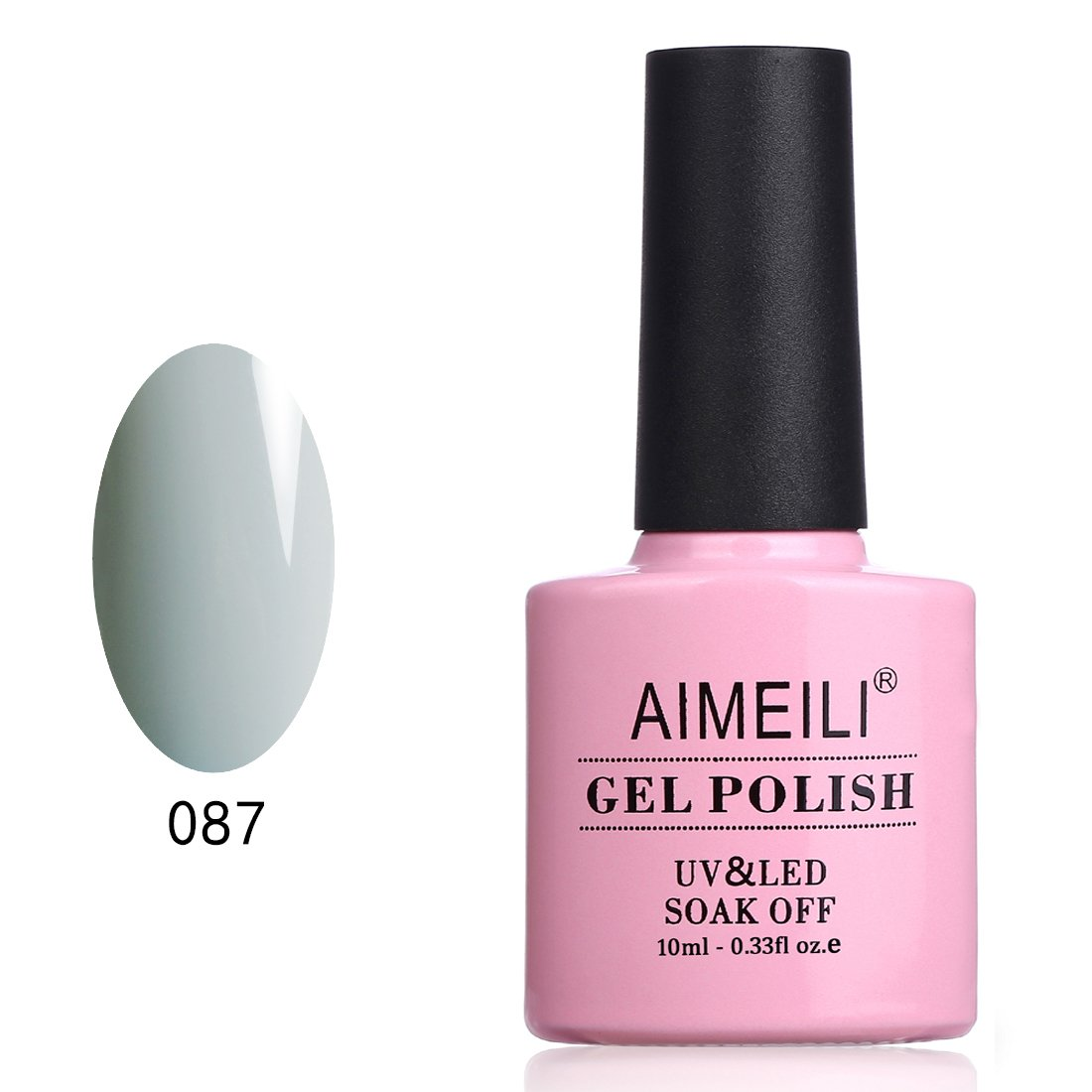 AIMEILI Soak Off UV LED Vernis à Ongles Gel Semi-Permanent Gris Gel Polish - Wish Before Dark (087) 10ml product image