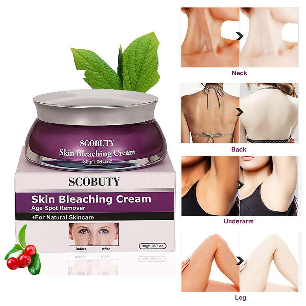Skin Lightening Cream, Whitening Cream, Brightening Cream, Melasma Treatment Cream, Freckle Removal Cream For Face Brightening, Dark Spot, Skin Pigmentation, Age Spots For Face and Body by SCOBUTY