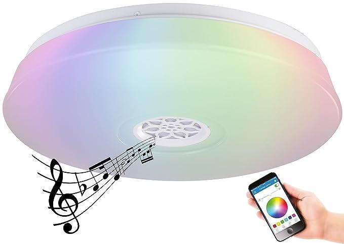 Plafoniere Con Altoparlanti : Luminea lampada da soffitto plafoniera a led rgbw sveglia con