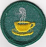 Girl Scout Badge Coffee Cup Patch c1950 - like new