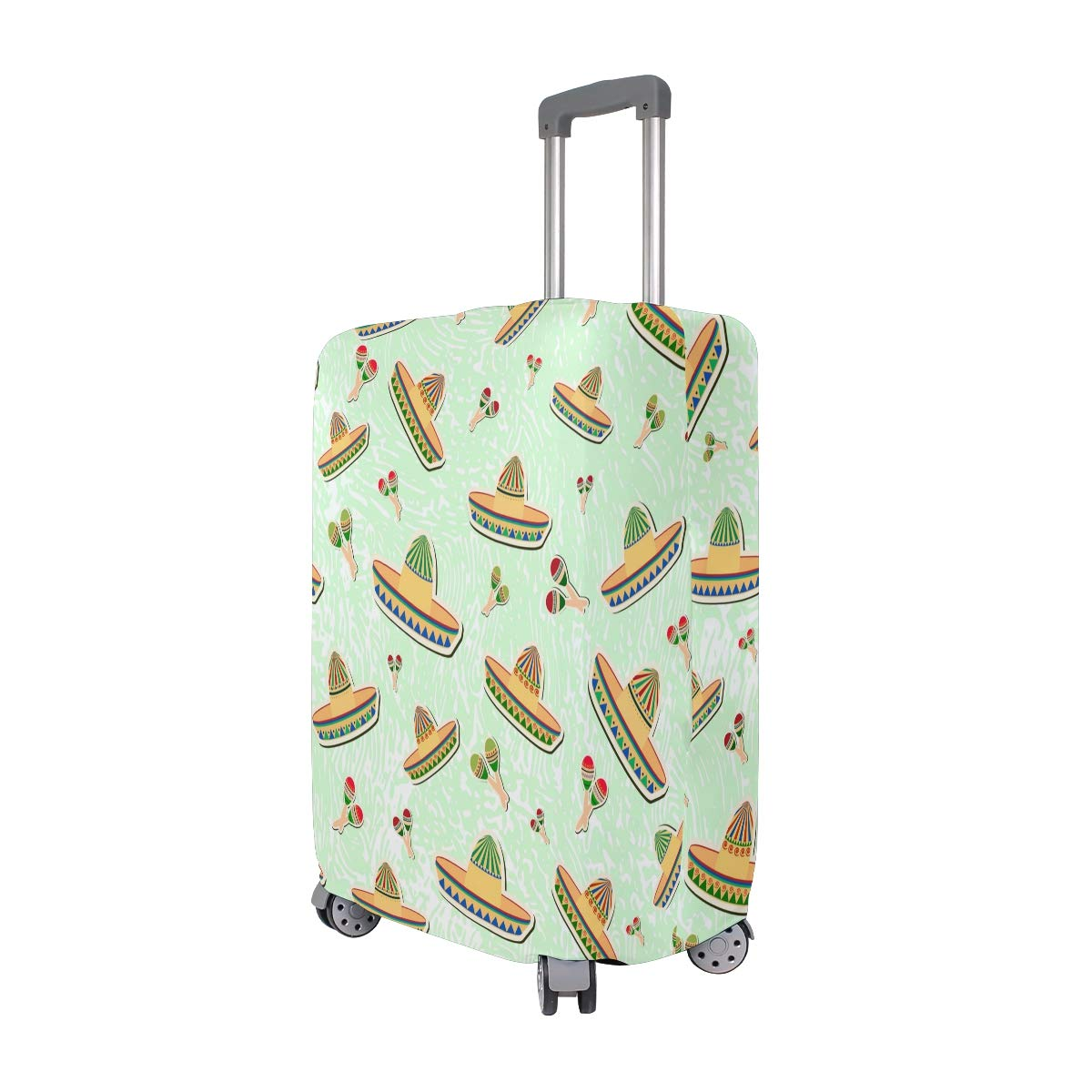 VIKKO Mexico Characteristic Travel Luggage Cover Suitcase Cover Protector Travel Case Bag Protector Elastic Luggage Case Cover Fits 26-28 Inch Luggage for Kids Men Women Travel