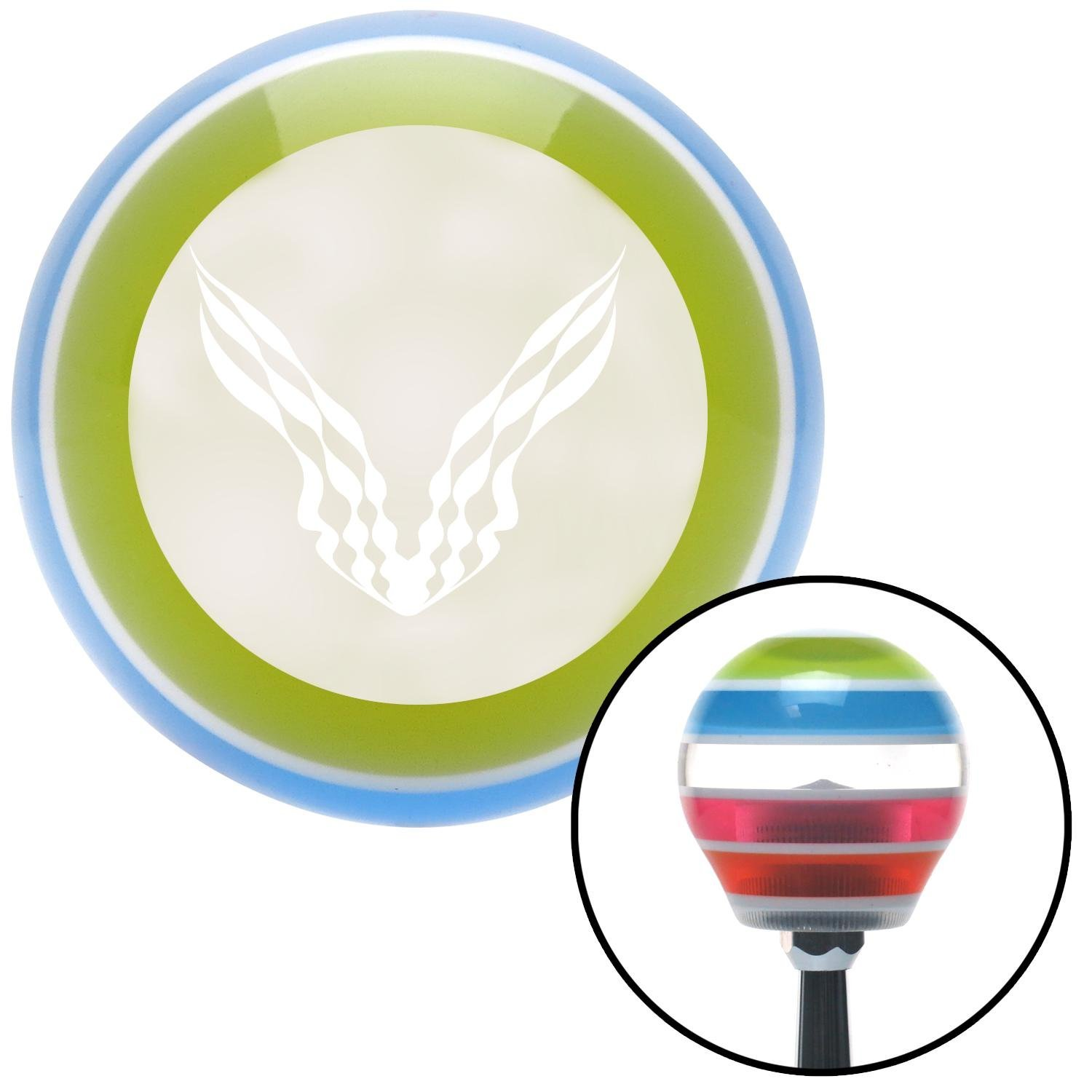 White Checkered Racing Wings American Shifter 131119 Stripe Shift Knob with M16 x 1.5 Insert