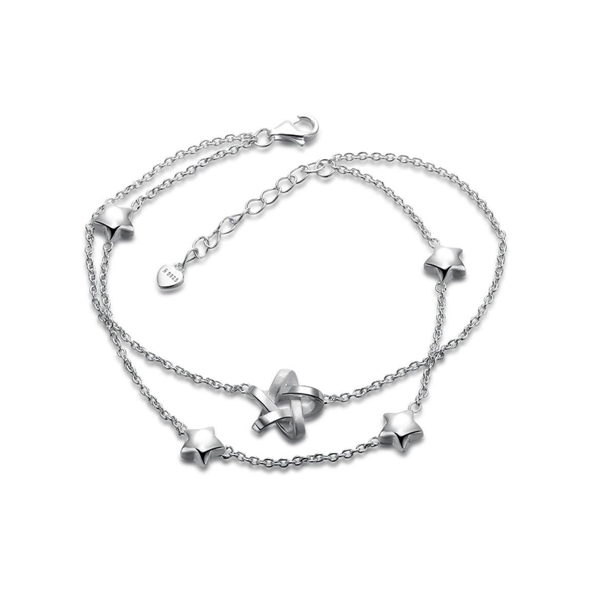 HZB Accessori di personalità braccialetto d'argento puro per fidanzata Boudoir