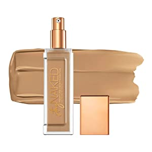 Urban Decay Stay Naked Weightless Liquid Foundation, 50WY - Buildable Coverage with No Caking - Matte Finish Lasts Up To 24 Hours - Waterproof & Sweatproof - 1.0 oz