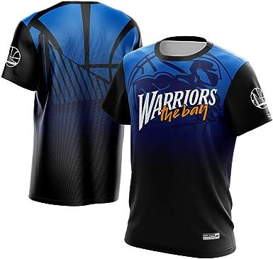 Warriors Finals Camiseta de Manga Corta Curry Durant KD Thompson Tela de Secado rápido con Cuello Redondo de Manga Corta: Amazon.es: Ropa y accesorios