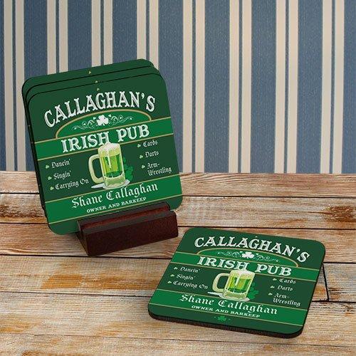 Irish Personalized Coaster Hardwood 3 75 product image