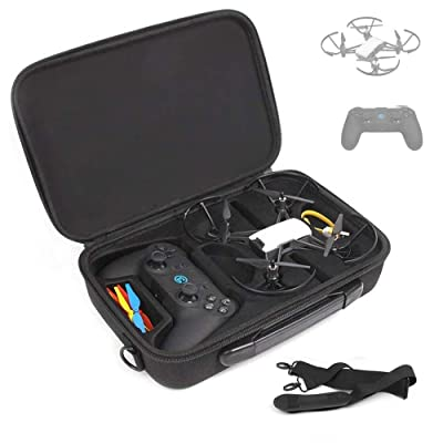 BonFook Tello Carrying Case, Shockproof Waterproof Portable Shoulder Bag Compatable with DJI Tello Drone with Gamesir T1D Gamepad Remote Controller: Toys & Games
