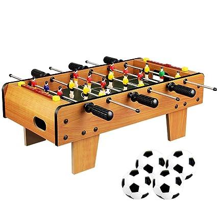 Fútbol de mesa para todas las edades 6 y mayores 6 filas Juego de fútbol de futbolín Juego de mesa interactivo de padres e hijos Futbolín Juguete de madera Mesa de fútbol