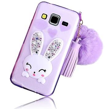 Para Samsung Galaxy Grand Prime G530 G531f Funda Suave Extremadamente Transparente Delgada Conejo Tpu De Silicona Carcasa Case Transparente Bumper
