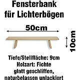 Schwibbogen Bank Fichte 50 cm, Fensterbank für Lichterbögen