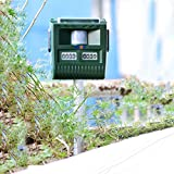 HNCSMILE Electronic Pest Repeller, Scare Cat Dog Deer Bird Rabbit Squirrel Unwanted Animal Away, Solar Recharge, Battery Included, Non Toxic, Great for Garden Outdoor Use