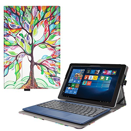 Fintie 2018 RCA Cambio 10.1 W101SA23T1S / W101SA23T2 Case - [Multi-Angle Viewing] Portfolio Business Cover for 10.1 inch RCA Cambio 2-in-1 Window Tablet with Kickstand, Love Tree