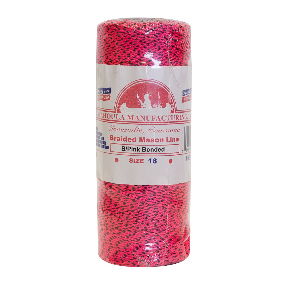Mason Line, Braided Nylon. Pink/Black, 500 ft 5-pack