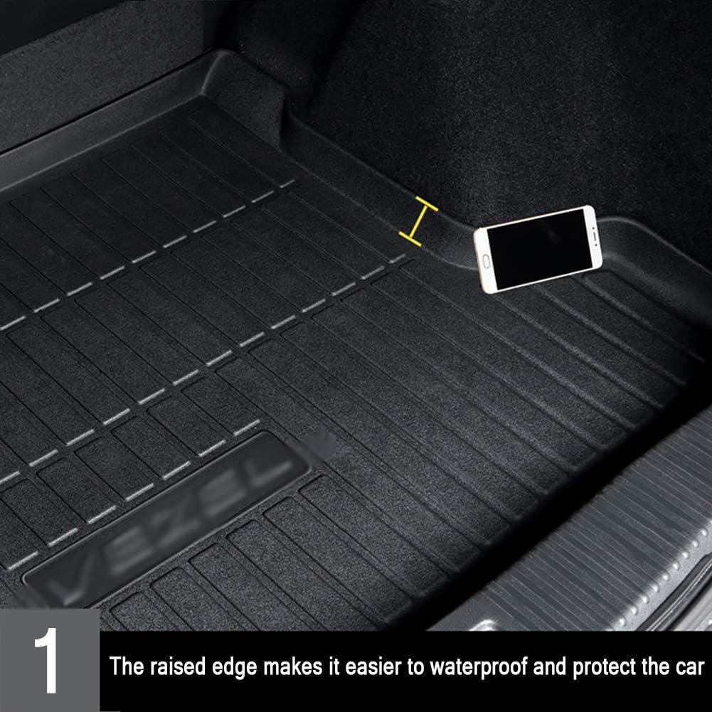 Vassoio per Bagagliaio,19//20 Under Tappeto Bagagliaio Posteriore in Protezione Vasca Baule Tappetino per Audi Q3 2015-2020 Compatibilita Perfetta Boot Liner Mat Trunk