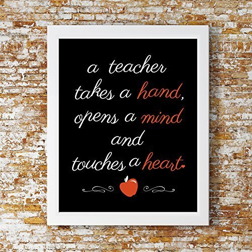 Teacher Touches a Heart Print - Teacher Gift, Teacher Decor, Teacher Print, Teacher Wall Art, Classroom decor, Classroom print, perfect teachers gift.