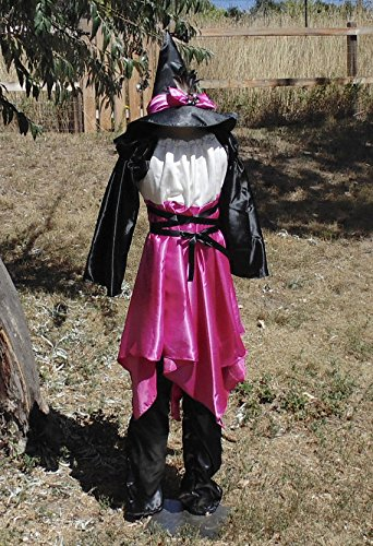Teen Girls 10-14 Pink and Black Witch with Matching Hat