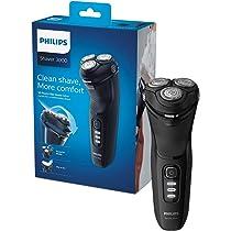 Philips Series 3000 afeitadora eléctrica húmeda o seca para hombre con un pivote 5D y cuchillas PowerCut, color negro brillante: Amazon.es: Salud y cuidado personal