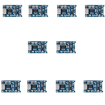 10pcs 1A 5V Micro USB 18650 Cargador de Energía de la ...