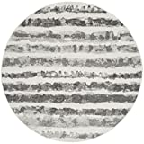 Safavieh Adirondack Collection ADR126N Ivory and Charcoal Modern Round Area Rug (6′ Diameter) Review