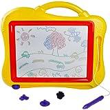 Magnetic Scribbler Doodle Pad disegno gioco colorato cancellabile giocattolo per bambini a partire dai 3anni +, colore casuale