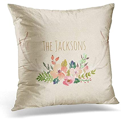 Amazon.com  Throw Pillow Cover Floral Customize Your Custom ... 8494652381aa