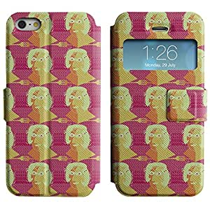 LEOCASE persona linda Funda Carcasa Cuero Tapa Case Para Apple iPhone 5 / 5S No.1004767