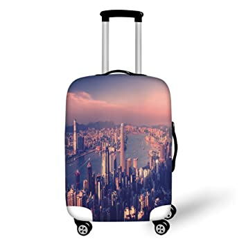 Amazon com | Travel Luggage Cover Suitcase Protector, City