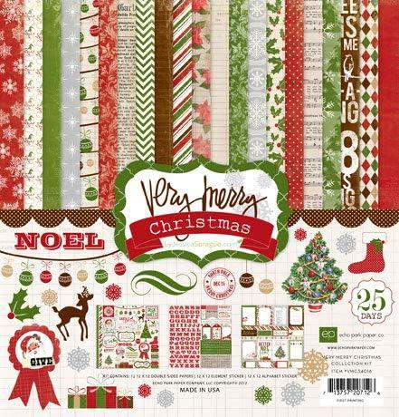 Very Merry Christmas Collection Scrapbooking Kit Copyright 2012 Item #: VMC34016TM Echo Park