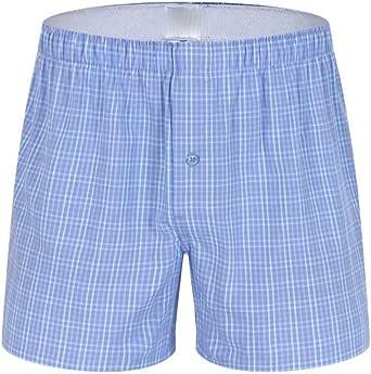 UJUNAOR Herr boxershorts sommar pyjamas avslappnad randiga shorts byxor underkläder