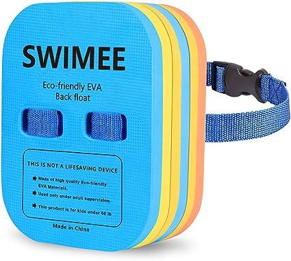 VSATEN Back Float Swim Belt Bubble Adjustable 3 Layers Thicken Split Foam Learning Safety Training Board Pool Floaties for Kids Toddlers Swimming Beginners Floats Swim Lessons Equipment