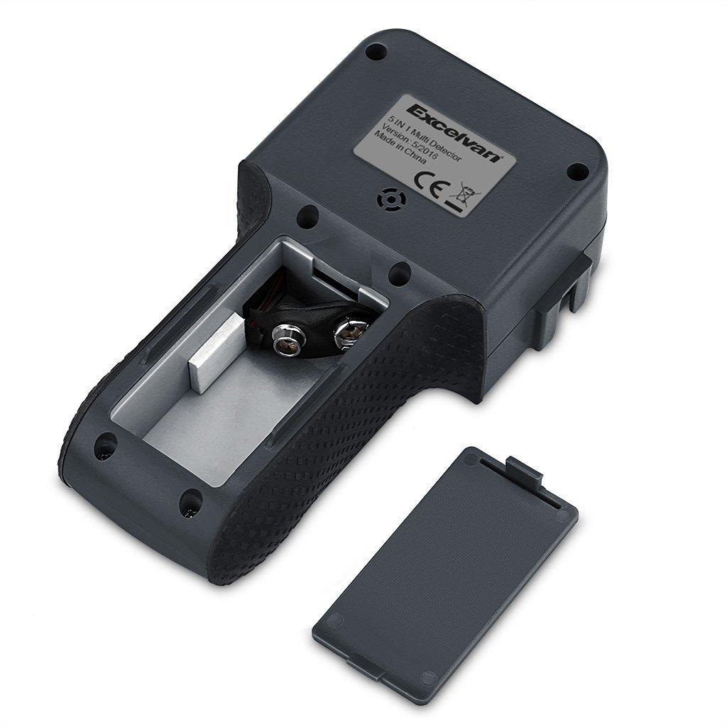 Excelvan - Ultrasónico de 5 en 1 multifunción de detector telémetro con puntero láser feutigkeit DC voltímetro metal AC Live Wires: Amazon.es: Electrónica
