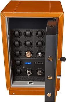 Caja fuerte & watch winder=Safewinder® 18 DELUXE TAN para 18 relojes: Amazon.es: Bricolaje y herramientas