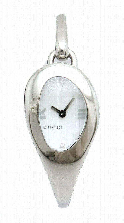 [グッチ] GUCCI ホワイト文字盤 花柄 ダイヤモンド SS レディース QZ クォーツ 腕時計 103 B07CZVP4BT
