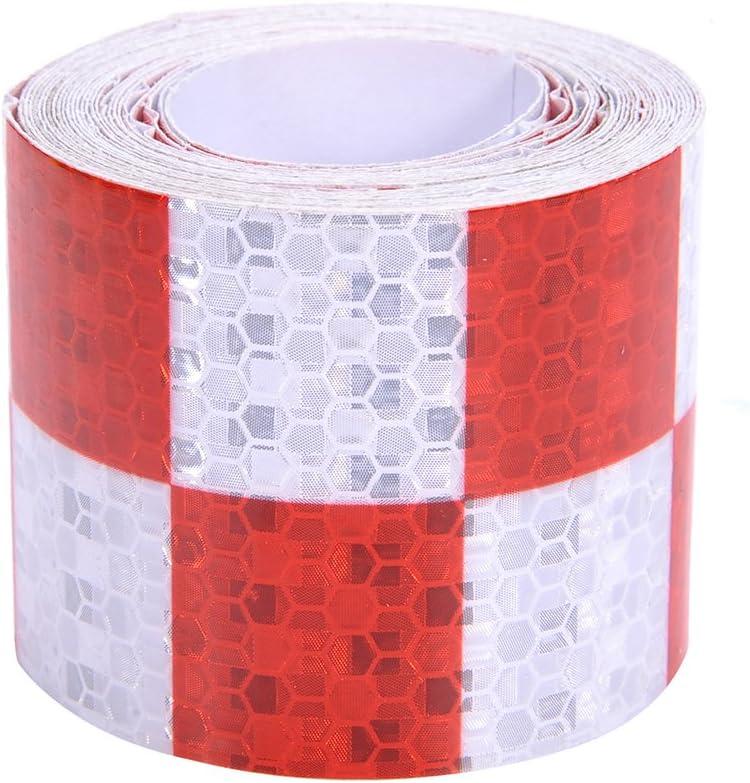 4 Farben 5cmx4m Reflektorband Sicherheitsband Warnklebeband Reflexionsfolie Reflexstreifen Selbstklebend Reflektierend Für Fahrrad Joggen Auto Pkw Lkw White Auto