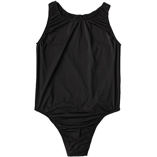 1a666f66eec YiZYiF Men s Brief Leotard Vest Top Bodysuit Sports Bodywear Jumpsuit  Underwear Black