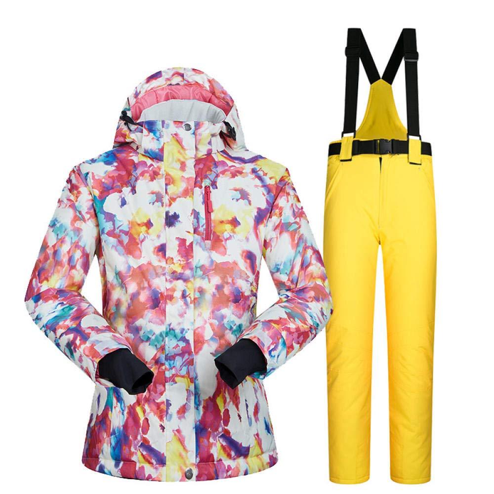 Conjunto de chaqueta y pantalón de esquí para mujer, traje térmico ...