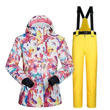Conjunto de chaqueta y pantalón de esquí para mujer, traje ...