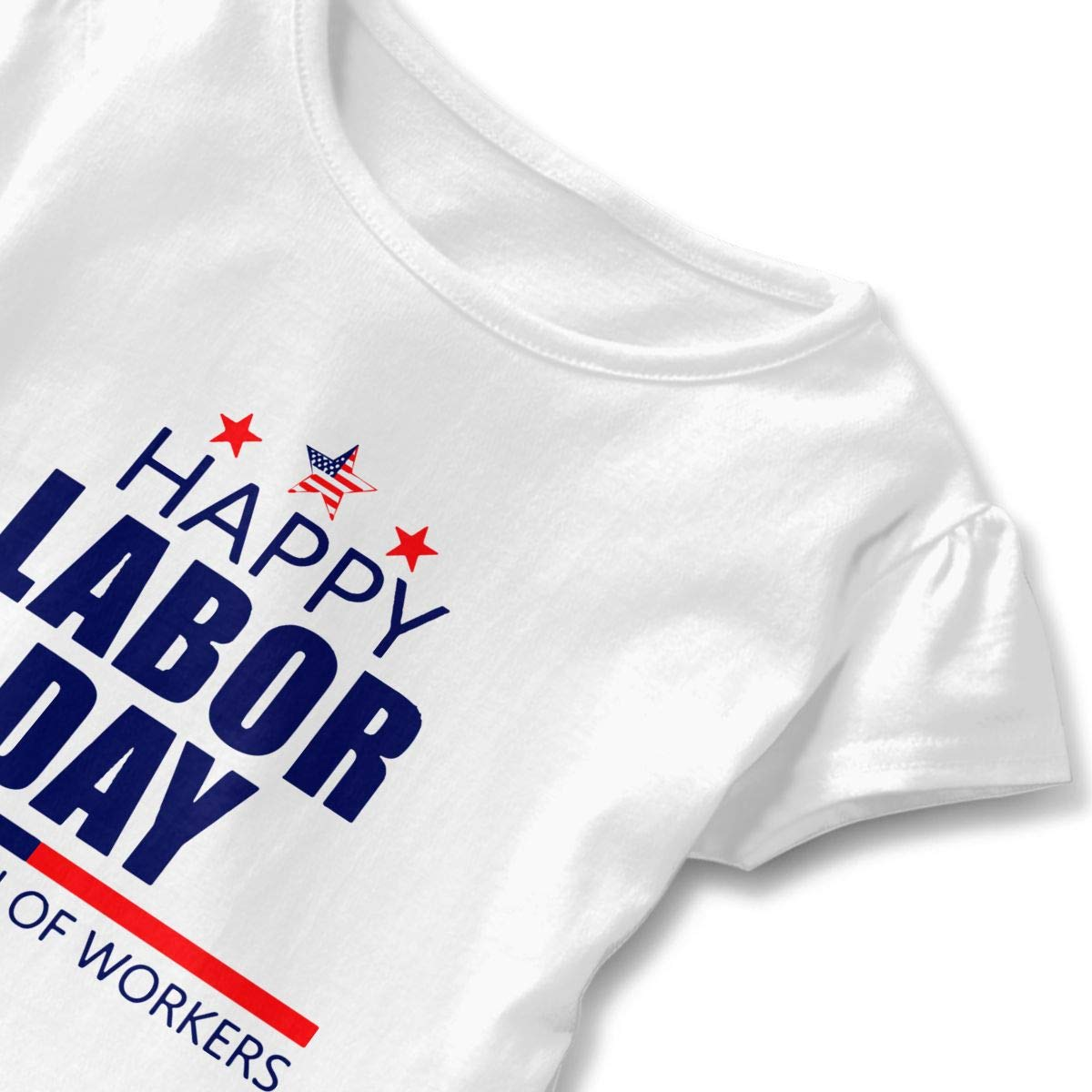 SC/_VD08 Happy Labor Day Kids Children Short Sleeve T-Shirt Top/&Tee