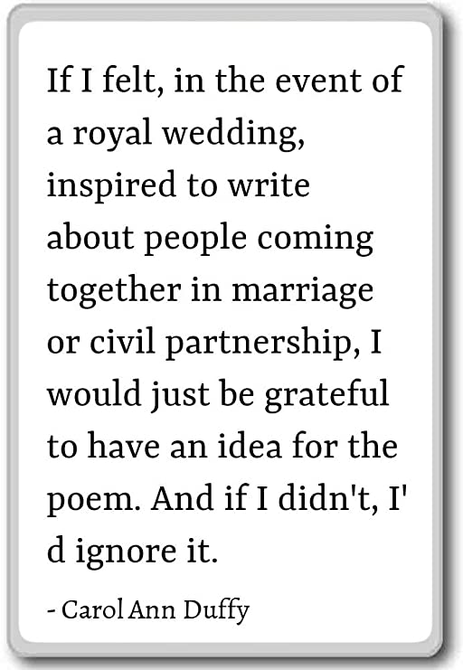 com if i felt in the event of a royal wedding carol