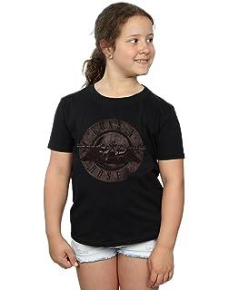 35c35b335baae Haut Fille pour Enfants Uni T Shirt Manche Longue Ras de Cou ...