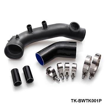 Ingesta Turbo Charge Kit de refrigeración tubo para BMW N54 E82 E88 E90 E91 E92 E93 135i 335i negro: Amazon.es: Coche y moto