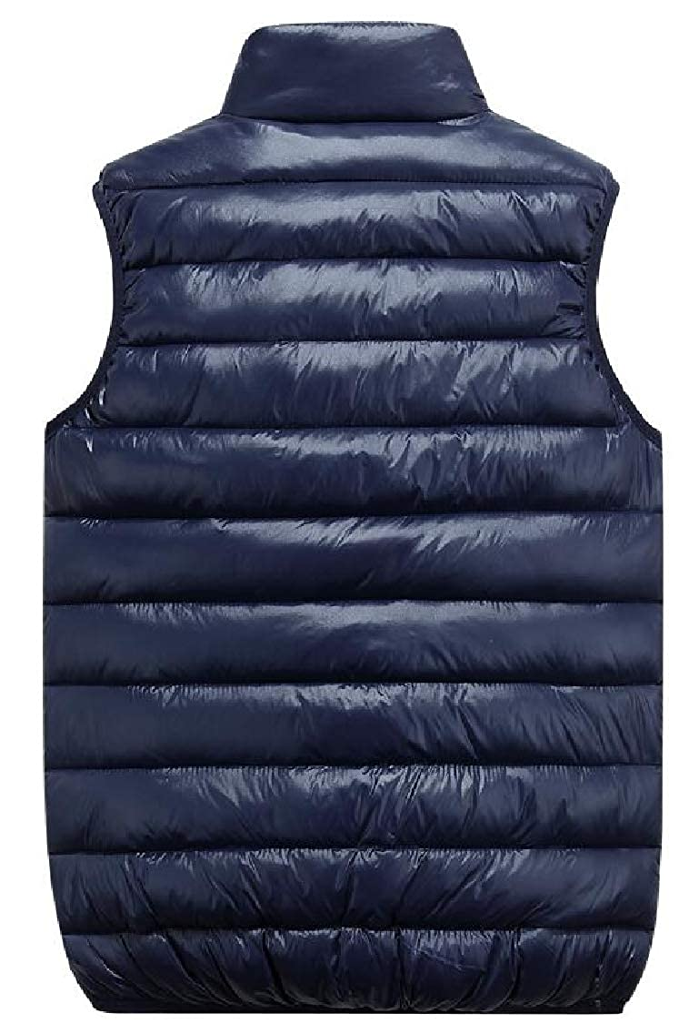 Jaycargogo Mens Winter Warm Packable Sleeveless Loose Quilted Down Vest Jacket