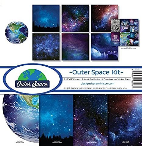 Reminisce OUT-200 Outer Space Scrapbook Collection Kit
