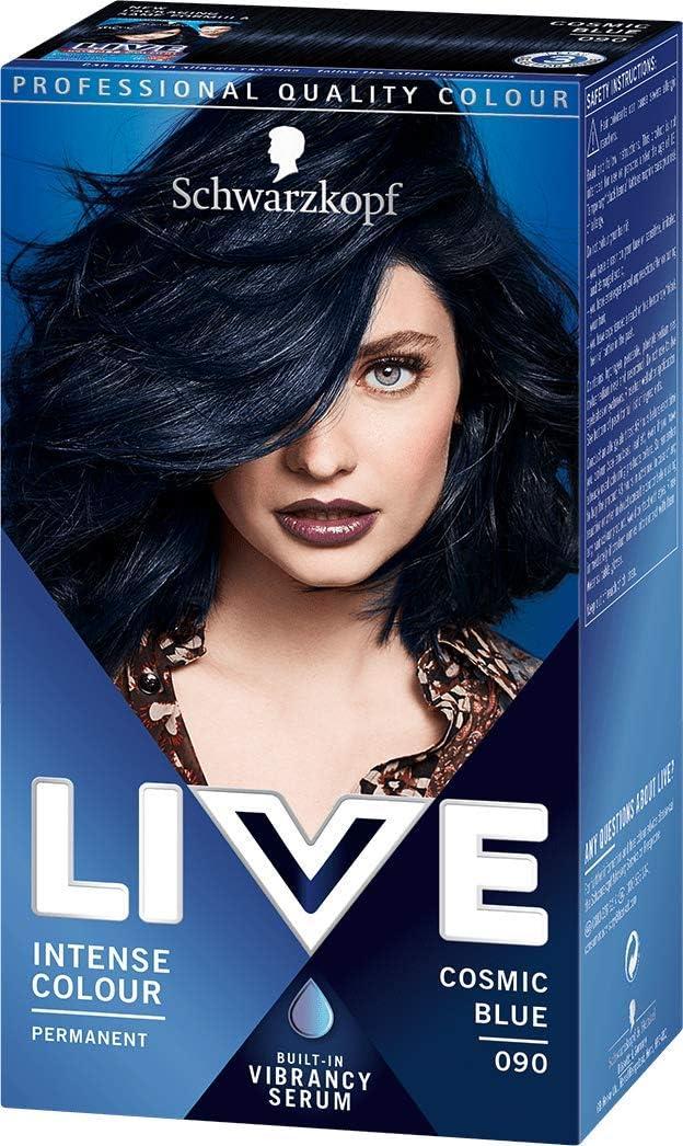 Schwarzkopf - Live Intensive - Tinte para el pelo de color azul cósmico 039