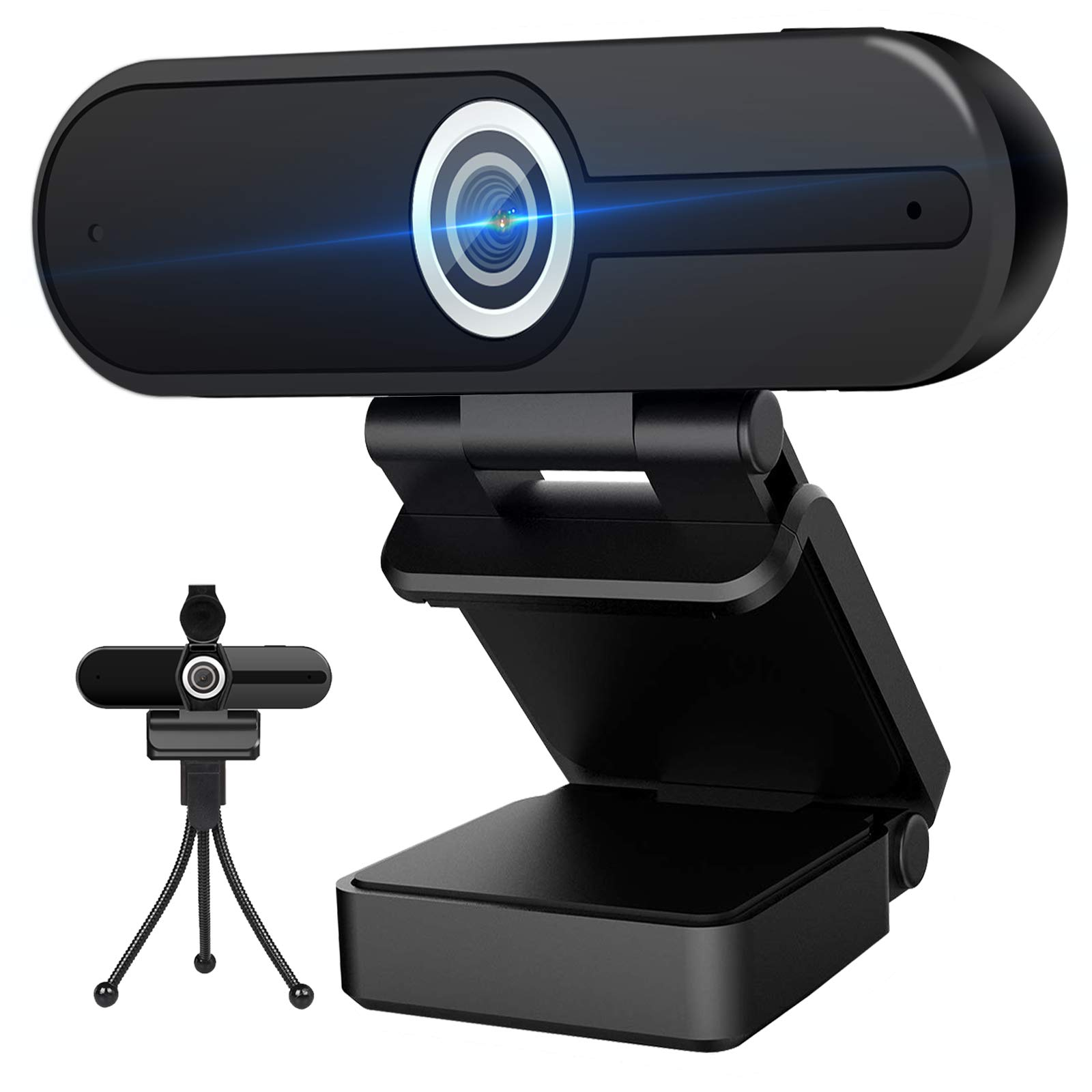 4K Webcam with Microphone Computer Camera 8MP USB Webcam 1080P for Video Calling, Conference, Streaming, Webcam with Privacy Cover and Mini Tripod